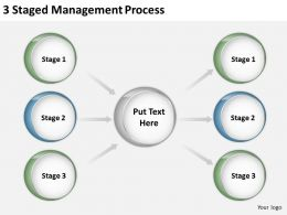 0620 Management Consulting 3 Staged Process Powerpoint Slides