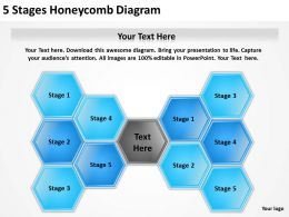 0620 Management Consulting 5 Stages Honeycomb Diagram Powerpoint Slides