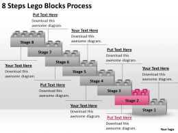 0620 Management Consulting 8 Steps Lego Blocks Process Powerpoint Slides