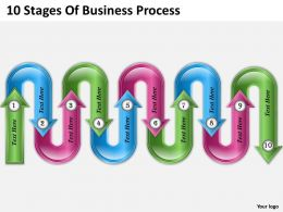 0620 Management Consulting Business 10 Stages Of Process Powerpoint Templates PPT Backgrounds For Slides