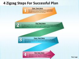 0620 Management Consulting Business 4 Zigzag Steps For Successful Plan Powerpoint Backgrounds For Slides