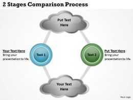 0620 Management Consulting Companies 2 Stages Comparison Process PPT Backgrounds For Slides