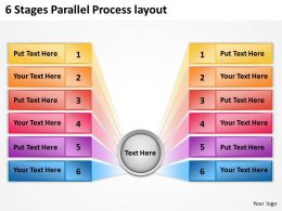 0620 Management Consulting Companies 6 Stages Parallel Process Layout Powerpoint Backgrounds For Slides