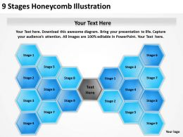 0620 Management Strategy Consulting 9 Stages Honeycomb Illustration Powerpoint Backgrounds For Slides