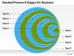 0620 Marketing Plan Process 8 Stages For Business Powerpoint Templates PPT Backgrounds Slides