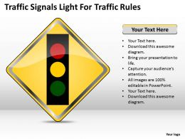 0620 Marketing Plan Traffic Signals Light For Rules Powerpoint Slides