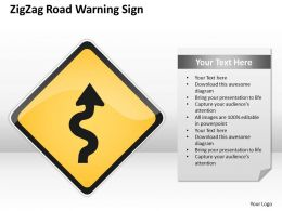 0620 Marketing Plan Zig Zag Road Warning Sign Powerpoint Templates