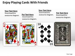 0620 Powerpoint Diagrams Download Cards With Friends Templates PPT Backgrounds For Slides