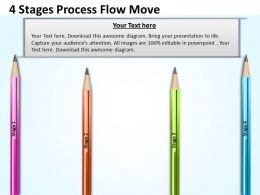 0620 Project Management 4 Stages Process Flow Move Powerpoint Templates PPT Backgrounds For Slides