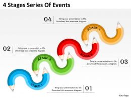0620 Project Management 4 Stages Series Of Events Powerpoint Templates PPT Backgrounds For Slides
