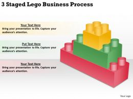 0620 Project Management Consultant 3 Staged Lego Business Process Powerpoint Templates