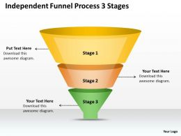 0620 Project Management Consultant Independent Funnel Process 3 Stages Powerpoint Templates