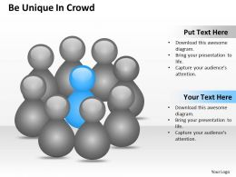 0620 Project Management Consulting Be Unique Crowd Powerpoint Slides