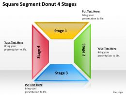 0620 Strategic Management Consulting Donut Stages 4 Powerpoint Templates PPT Backgrounds For Slides