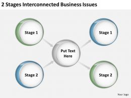 0620 Strategic Plan 2 Stages Interconnected Business Issues Powerpoint Templates