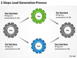 0620 Strategic Plan 2 Steps Lead Generation Process Powerpoint Templates