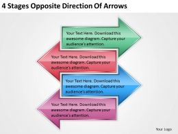 0620 Strategic Plan 4 Stages Opposite Direction Of Arrows Powerpoint Templates