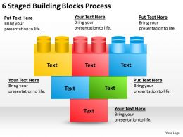 0620 Strategic Planning 6 Staged Building Blocks Process Powerpoint Templates