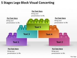 0620 Strategic Planning Consultant 5 Stages Lego Block Visual Concerting Powerpoint Backgrounds For Slides