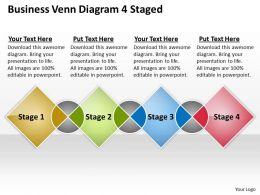 0620 Strategic Planning Consultant Venn Diagram 4 Staged Powerpoint Templates PPT Backgrounds For Slides