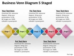 0620 Strategic Planning Consultant Venn Diagram 5 Staged Powerpoint Templates PPT Backgrounds For Slides