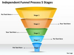 0620 Strategy Consultant Funnel Process 5 Stages Powerpoint Templates PPT Backgrounds For Slides