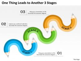 0620 Strategy Consultant One Thing Leads To Another 3 Stages Powerpoint Templates Backgrounds For Slides