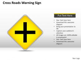 0620 Strategy Consultants Cross Roads Warning Sign Powerpoint Templates