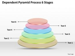 0620 Strategy Consultants Pyramid Process 6 Stages Powerpoint Templates PPT Backgrounds For Slides