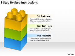 0620 Strategy Consulting 3 Step By Instructions Powerpoint Slides