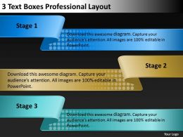 0620 Strategy Consulting 3 Text Boxes Professional Layout Powerpoint Slides