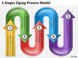 0620 Strategy Consulting 5 Stages Zigzag Process Model Powerpoint Templates Backgrounds For Slides