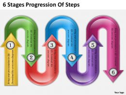 0620 Strategy Consulting 6 Stages Progression Of Steps Powerpoint Templates Backgrounds For Slides