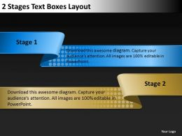 0620 Strategy Consulting Business 2 Stages Text Boxes Layout Powerpoint Slides