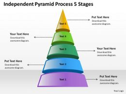 0620 Strategy Independent Pyramid Process 5 Stages Powerpoint Templates PPT Backgrounds For Slides