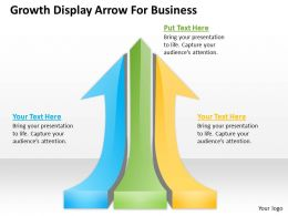 0620 Strategy Management Consultants Growth Display Arrow For Business Powerpoint Templates