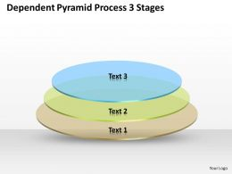 0620 Timeline Chart Dependent Pyramid Process 3 Stages Powerpoint Templates PPT Backgrounds For Slides