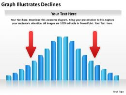 0620 Timeline Chart Graph Illustrates Declines Powerpoint Templates