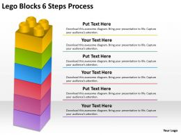 0620 Timeline Chart Lego Blocks 6 Steps Process Powerpoint Templates