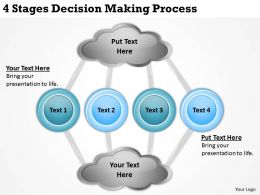 0620 Top Management Consulting Business 4 Stages Decision Making Process Powerpoint Slides