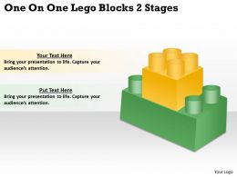 0620 Top Management Consulting Business One Lego Blocks 2 Stages Powerpoint Slides