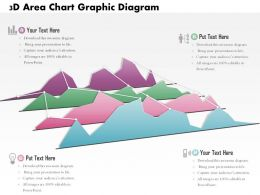 0714 Business Consulting 3D Area Chart Graphic Diagram Powerpoint Slide Template