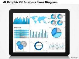0714 Business Consulting 3D Graphic Of Business Icons Diagram Powerpoint Slide Template
