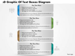 0714 Business Consulting 3D Graphic Of Text Boxes Diagram Powerpoint Slide Template