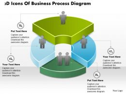 0714 Business Consulting 3D Icons Of Business Process Diagram Powerpoint Slide Template