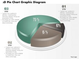 0714 Business Consulting 3D Pie Chart Graphic Diagram Powerpoint Slide Template