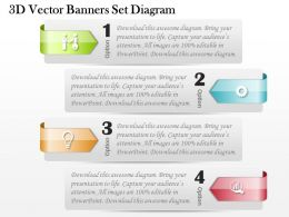 0714 Business Consulting 3D Vector Banners Set Diagram Powerpoint Slide Template
