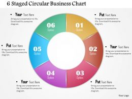 0714 Business Consulting 6 Staged Circular Business Chart Powerpoint Slide Template
