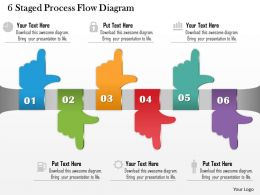 0714 Business Consulting 6 Staged Process Flow Diagram Powerpoint Slide Template