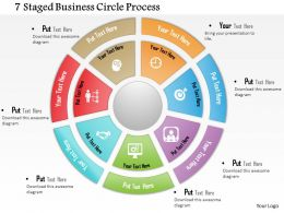 0714 Business Consulting 7 Staged Business Circle Process Powerpoint Slide Template